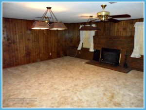 Mobile AL Home For Sale with Large Den with Fireplace