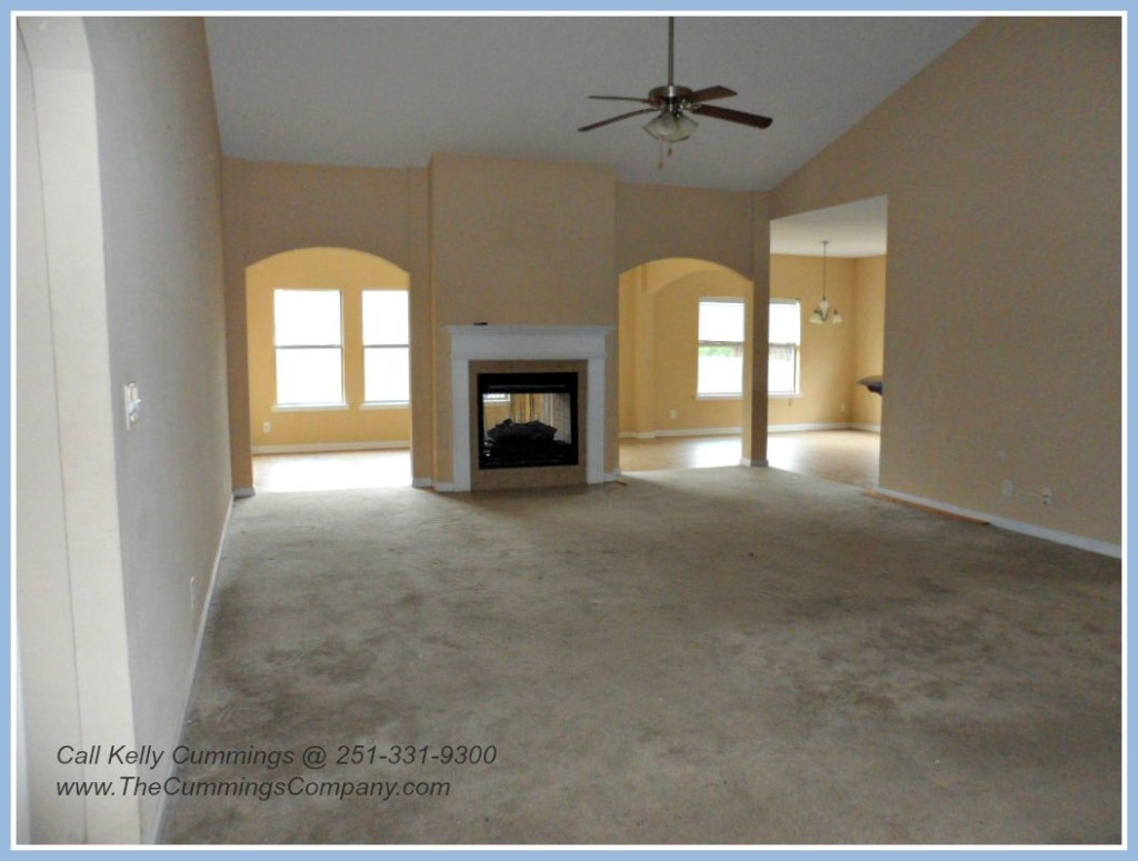 Open Floor Plan at this West Mobile Foreclosure For Sale