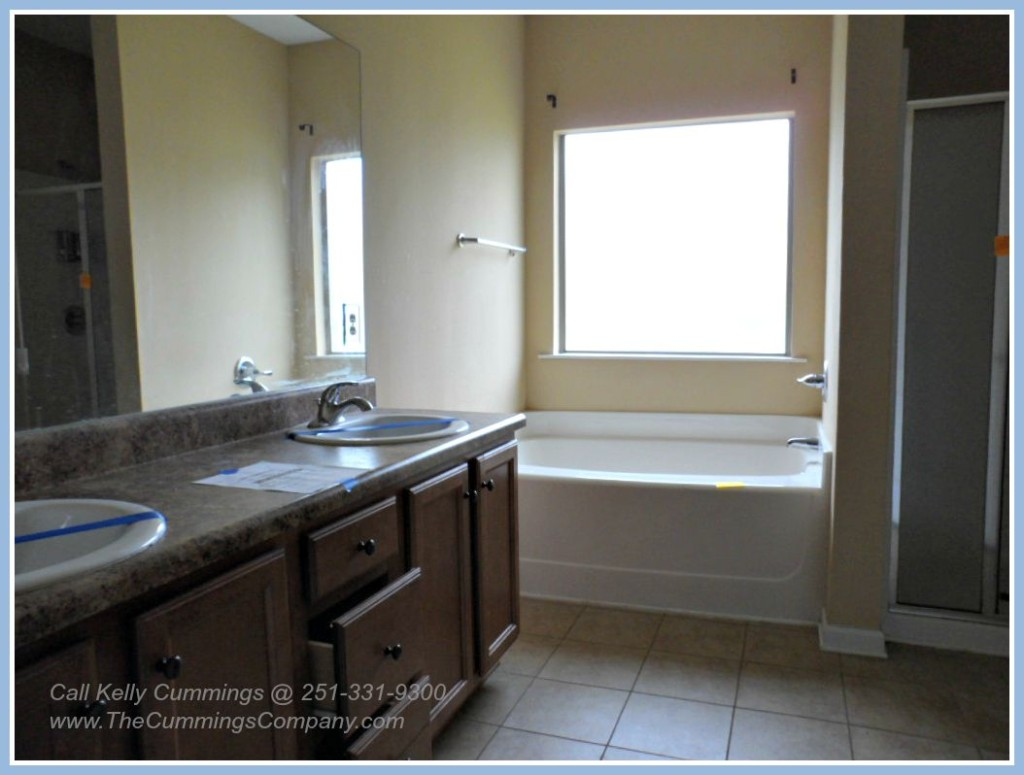 Updated Master Bathroom in this Mobile AL Foreclosure For Sale