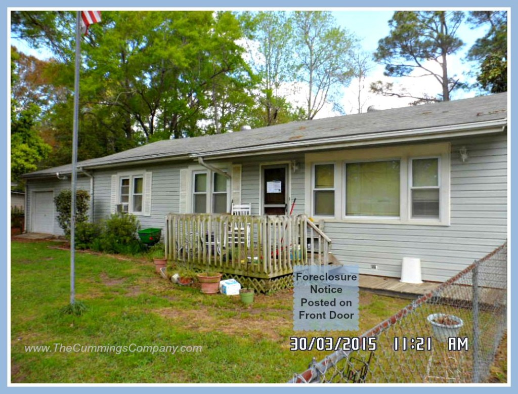 Mobile Alabama Home with Foreclosure Notice Posted