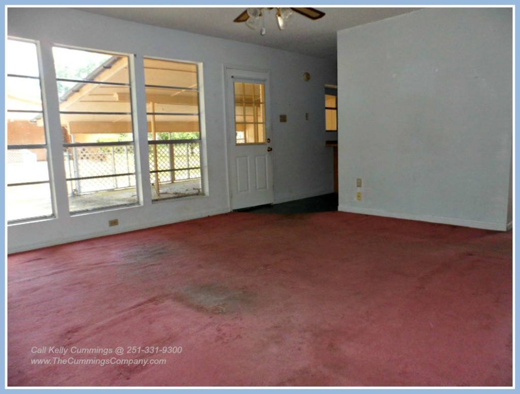 Large Den in this Mobile AL Foreclosure Home