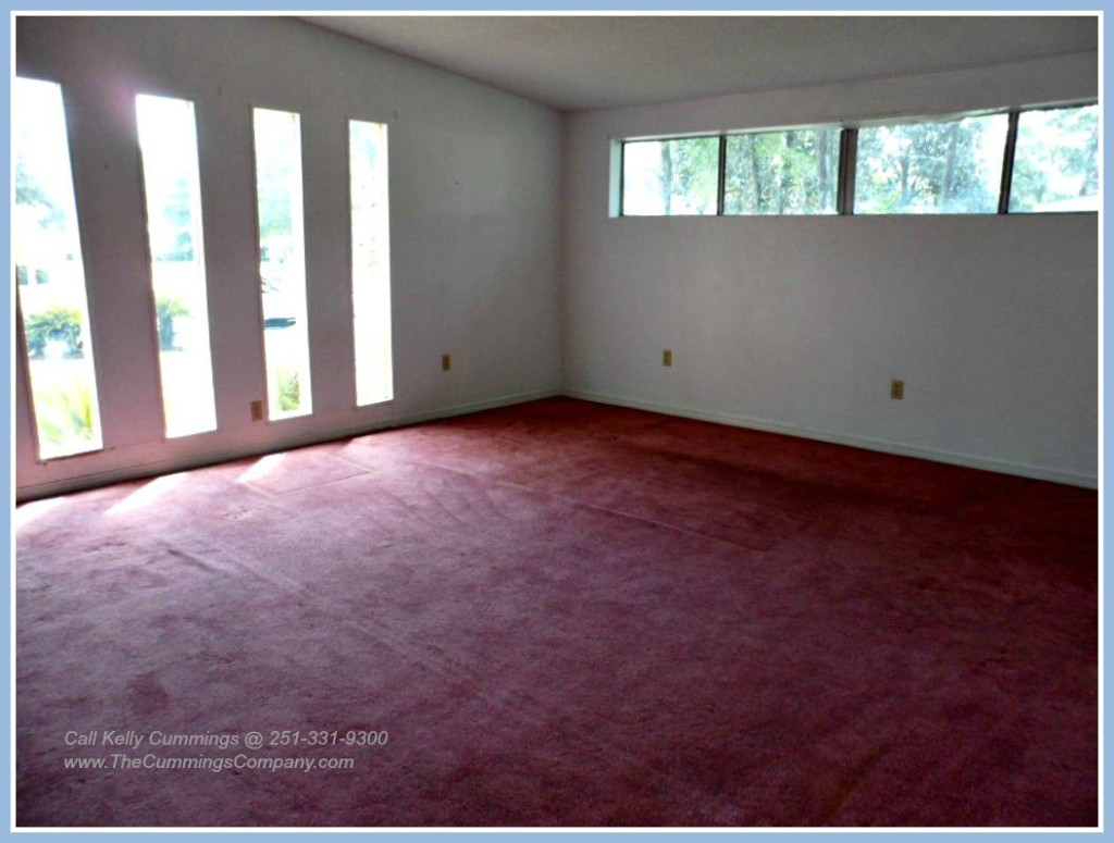 Naturally Lit Living Room in this Mobile AL Foreclosure For Sale
