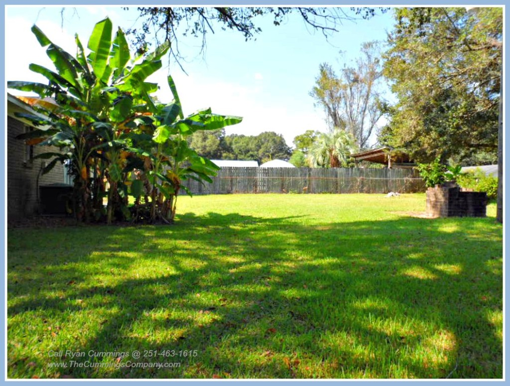 Mobile AL Home For Sale with Large Fenced Yard