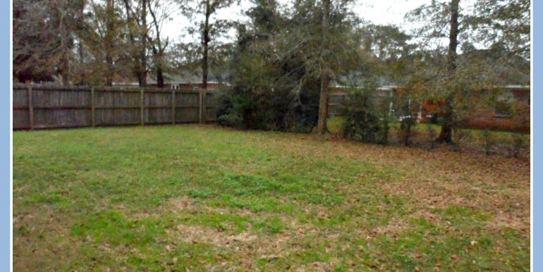 Fenced Backyard at 9661 Misty Leaf Dr Mobile AL