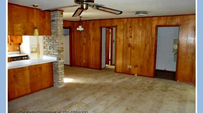 Open Living Room and Kitchen at 1174 Ginger Dr Mobile AL 36693