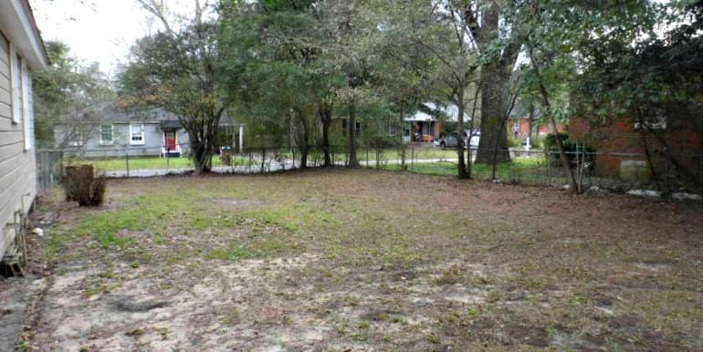 Fenced Backyard at 368 Pineview Ln Mobile AL