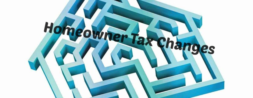 The Affects of Homeowner Tax Changes